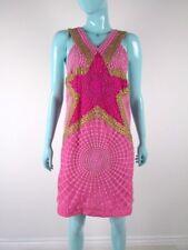 MANISH ARORA SIZE XS 6-8 UK SILK SEQUIN PINK DRESS BNWTS AUTHENTIC