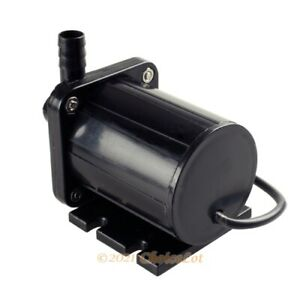 12V DC CPU PC Cooling Motor Brushless Submersible Water Pump 500L/H 13.8&10mm