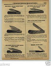 1929 PAPER AD John Russell Daddy Barlow Pocket Knife Knives