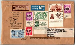 GP GOLDPATH: ISRAEL COVER 1960 AIR MAIL REGISTERED LETTER _CV699_P07