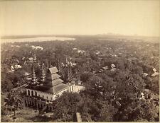 Photo Albuminé Temple Asie Indochine Birmanie ? Laos ? 1880/90