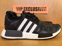 Adidas NMD R1 Bape Black Camo Army Bathing Ape Nomad Runner BA7325 SHIPPING NOW