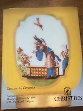 Christies Auction Catalogue Continental Ceramics 300991