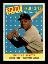 1958 Topps #486 Willie Mays AS EXMT X1954604