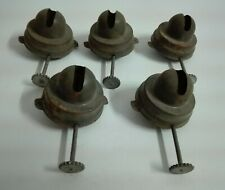 Vintage Brass Oil Lamp Unusual Burners - Nutmeg Burners
