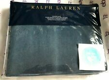 One RALPH LAUREN Corso Campania EURO Sham Blue Velvet  Brand New Factory Folded