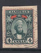 Zanzibar 1896 4a. myrtle-green - Sg164 - fine used on piece