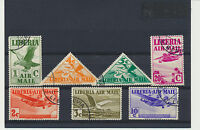 Old Airmails 1938 Set of 7 Liberia #C4 - C10 includes triangles, Commemoratives