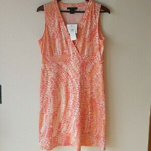 Coral Snakeskin Dress by Calvin Klein Jeans Large