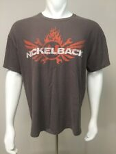 Nickelback Here & Now 2012 Tour Concert Tee Band T Shirt Men Xl Clay Brown