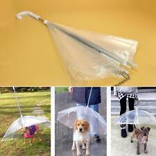 Outdoor Transparent Pet Umbrella Small Dog Rain Gear Keeps Pet Dry Useful