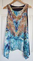 CAROLINE MORGAN Size 8 Asymmetric Hem Mini Dress or Long Top