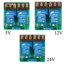 5V /12V /24V Dual-Channel 30A Relay Board Module Optocoupler Isolation US