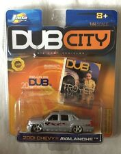 Jada Toys Dub City 2001 Chevy Avalanche Silver Die-Cast 1/64 Includes Decal