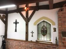 More details for cross crucifix religious church antique cast iron