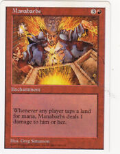 1 x Manabarbs enchantment from 5th Edition (MTG)