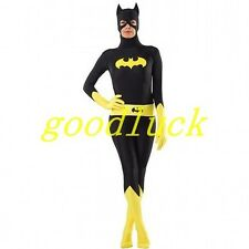 Black Lycra Spandex Zentai Suit Catsuit Jumpsuit Cosplay Party Bodysuit Costumes