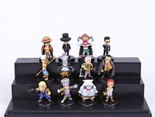 Anime One Piece 12pcs/set Luffy Sabo Shanks Lucci Crocodile Moria Buggy Enel PVC
