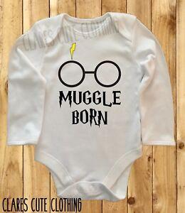 HARRY POTTER MUGGLE BORN BABY VEST/ GROW  BODYSUIT ROMPER