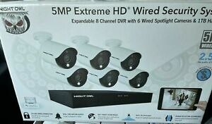 New Night Owl C5X1L86 Security System 8-Channel 1TB DVR Human Detect System
