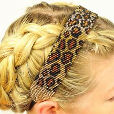 HB108 Leopard Assorted 1 Sz Artisan Beaded Crystal Headband Guatemala Fair Trade