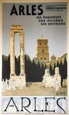 """""""ARLES par Léo LELEE 1936"""" Affiche originale litho entoilée  66x104cm"""