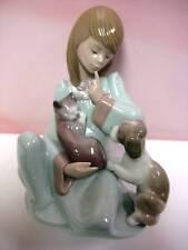 CAT NAP GIRL KITTEN & DOG FIGURINE BY LLADRO   #5640