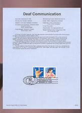 #2783-4 29c Deaf Communication USPS #9325 Souvenir Page