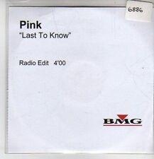 (CQ168) Pink, Last To Know - DJ CD