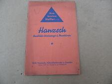 Booklet Hanzsch Quality Tool und Maschinen Dresden Koetzschenbroda