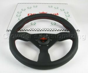 Personal Steering Wheel Neo Grinta 330mm Black Leather with Red Stitching