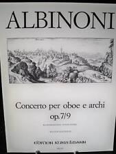 ALBINONI Concerto for Oboe op.7/9 pub. Kunzelmann GM347