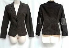 NWT Banana Republic Brown Hacking Riding Jacket Coat w/ Elbow Patches 6P New