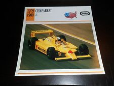 1979 1980 Chaparral 2K Car Photo Spec Sheet Stat Info CARD