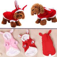 Cute Rabbit Style Pet Cotton Cat Warm Sweater Dog Hoodie Coat Bunny Costume---