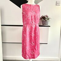 BODEN Dress Size 12 PINK WHITE   SMART Occasion WEDDING Cruise RACES SPOTTY