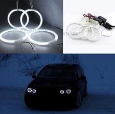 4Pcs White CCFL Halo Rings Angel Eyes Lamp For Volkswagen Golf 4 mk4 1998-2004