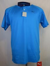 New Puma Cool Cell Golf Polo Men's Small short sleeve Blue Cool Max Clean Sport