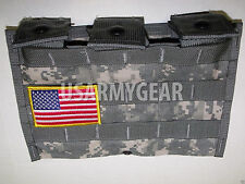 Lot of 4 US Army Official Military Molle ll ACU Admin Triple Carrier Pouch 3 MAG