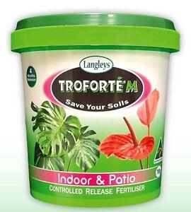 Troforte M Indoor & Patio Fertiliser 700g Langleys Plant CRF Fertilizer Microbes
