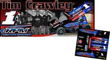 Cd_Sc_114 #1x Tim Crawley Rpm 2018 Sprint Car 1:18 Scale Decals