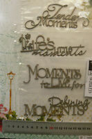 CHIPBOARD Wordlets LIFE'S MOMENTS - 4 Mixed Design Choice Scrap FX W2