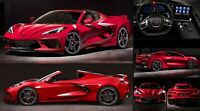 2020 CHEVROLET CORVETTE C8 STINGRAY RED (Inside & out) POSTER 24 X 36 INCH