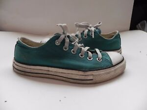 Converse~Chuck Taylor~Turquoise Aqua Low Top Sneakers MENS 5 WOMENS 7