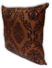 Brown Home Decorate Room Sofa Flock Print Cushion Cover Pillow Case 43cm x 43cm