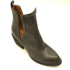Jeffrey Campbell Cromwell Sz 5.5 Cutout Western Heel Black Leather Womens Boots