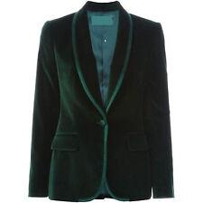 Mens Green Designer Grooms Wedding Tuxedo New Casual Velvet Coat Blazer Jacket
