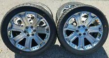 "GMC Denali 22"" Wheels &Tires 2016 Rims Hyp Silver CK190 Sierra Yukon Chevy Tahoe"