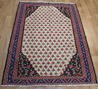 Old Handmade Persian Kilim Rose Design 145 x 110 cm Fine Handwoven Wool Rug