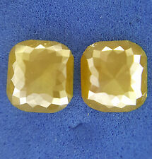 1.93TCW Cushion shape Yellow Color Rose cut Antique Loose Natural Diamond Pair